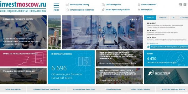 Шестикратный рост за четыре года продемонстрировала посещаемость Инвестиционного портала Москвы