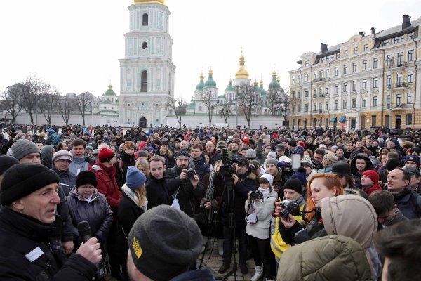 В Киеве проходит акция с требованием к РФ освободить пленных украинцев
