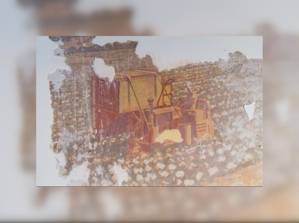 Во время реставрации ВДНХ нашли фрагмент живописи неизвестного художника
