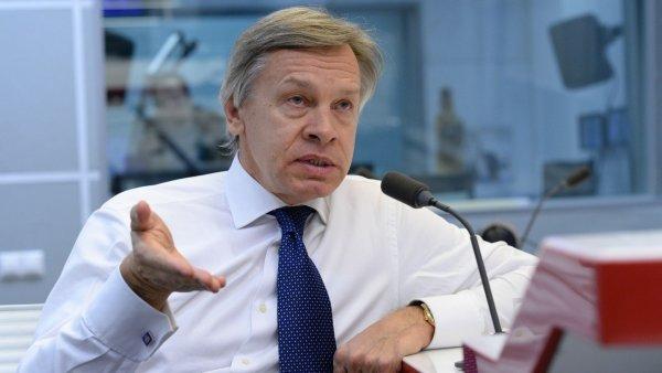 Пушков высказался о затянувшемся выступлении Макрона на ПМЭФ-2018