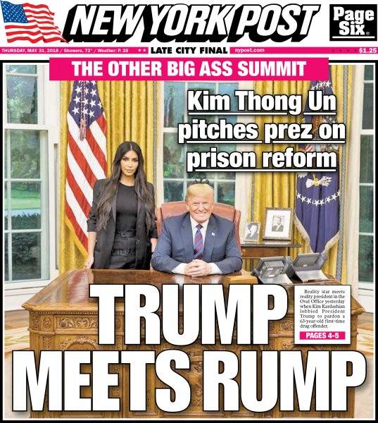 «Трамп встречает зад»: Как в СМИ США осветили встречу Трампа и Кардашьян