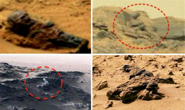 «Мумия неизвестного солдата» обнаружена уфологами на поверхности Марса