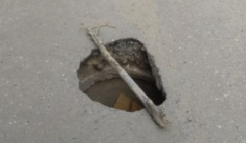 В Воронеже на дороге появилась опасная