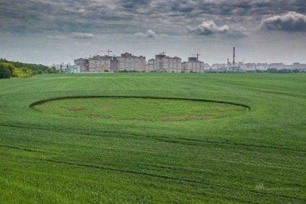 Инопланетяне тоже любят футбол: В Липецкой области замечены странные круги на полях