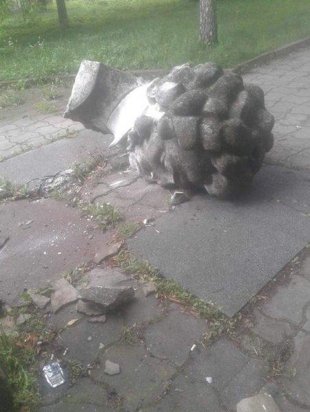 Во Львовской области неизвестные разрушили памятник Пушкину