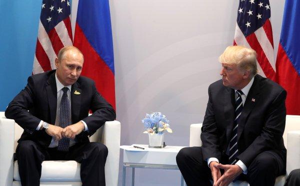 Time: Путин не станет обсуждать принадлежность Крыма с Трампом
