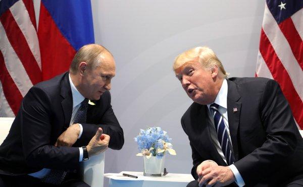 Журналисты разглядели, как Трамп подмигнул Путину на саммите в Финляндии