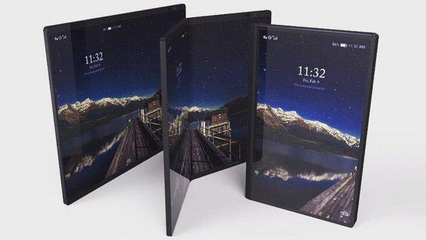 Новые эскизы гнущегося Samsung Galaxy X показали в Сети