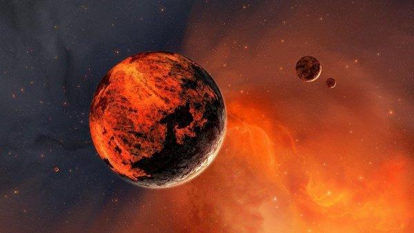 Марс близко: Фотограф сделал редких кадр красной планеты с Земли