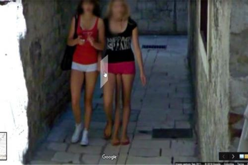 Пользователи Google Maps нашли на карте Хорватии трёхногую девушку