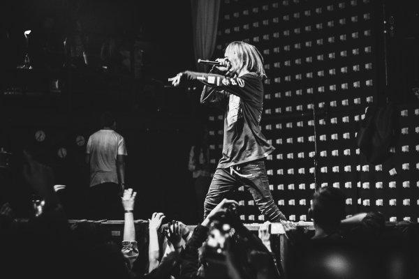 Рэпер Pharaoh во время концерта ударил фаната ногой