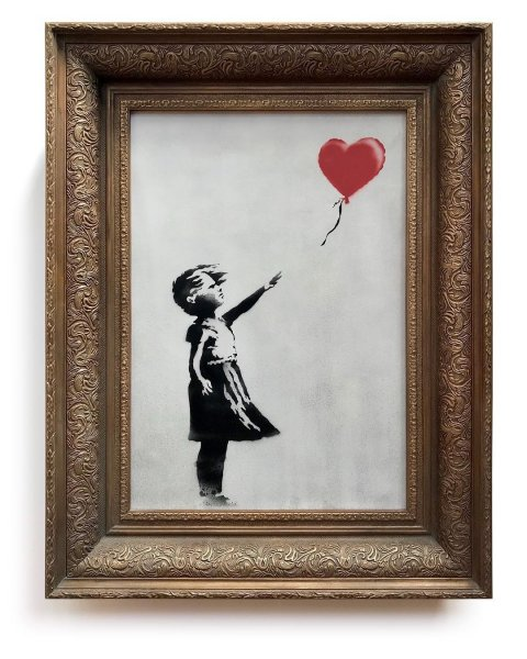 Бэнски назвал случайной неудачей неполное уничтожение картины «Девочка с шаром»