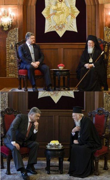 Порошенко и патриарх Варфоломей подписали соглашение о создании Украинской церкви