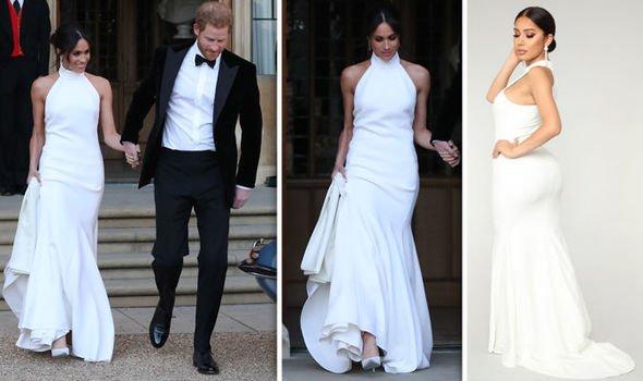 СМИ: Точную копию белого платья Меган Маркл можно купить за 3 тысячи рублей