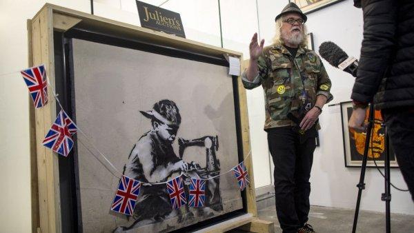 Американец, купивший за $730000 известную картину Бэнкси, планирует уничтожить её