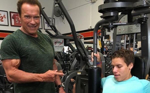 Арнольд Шварценеггер преподнёс «Олимпийский» урок своему сыну