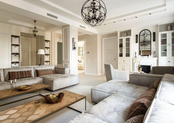 Салон элегантного интерьера вашей квартиры
