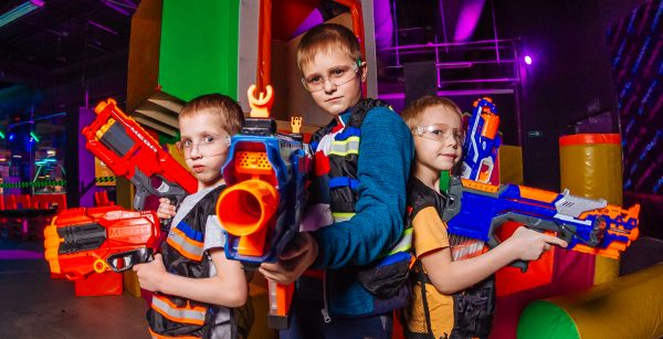 Nerf - увлекательное времяпровождение детей в Москве