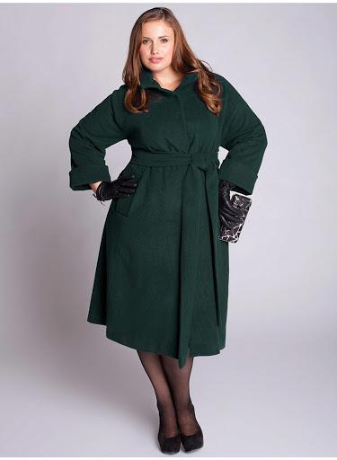 Комфортные и недорогие пальто больших размеров для женщин