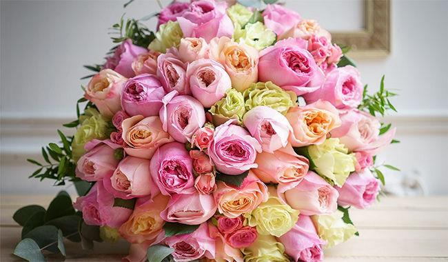 Порадуйте близких красивым букетов цветов
